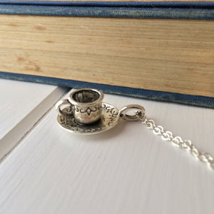 CS Lewis Quote Teacup Necklace - Literary Emporium