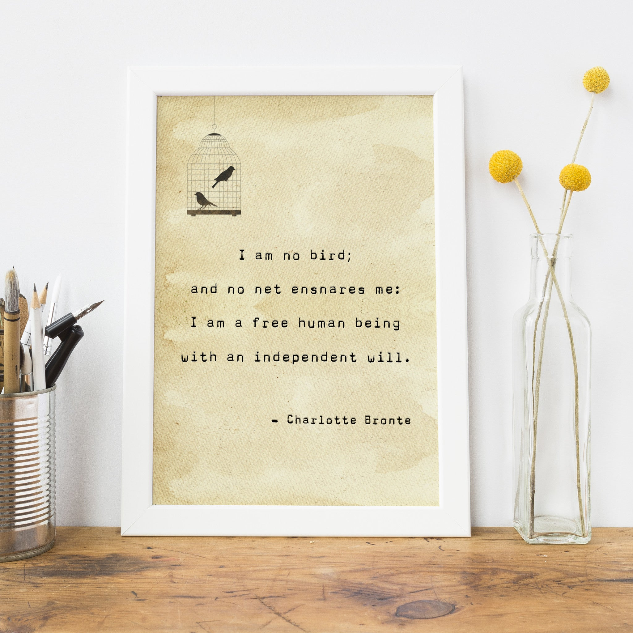 Quotes Jane Eyre Jane Eyre Quote Typewriter Print  Literary Emporium