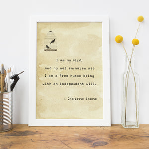 Jane Eyre Quote Typewriter Print - Literary Emporium