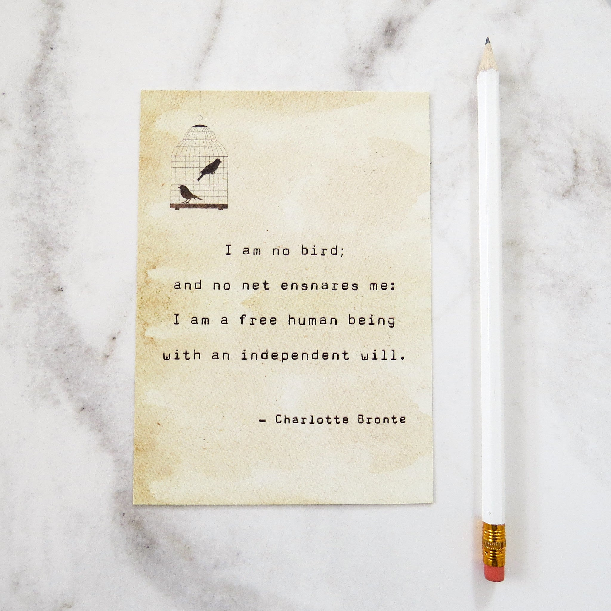 Jane Eyre Quote Postcard