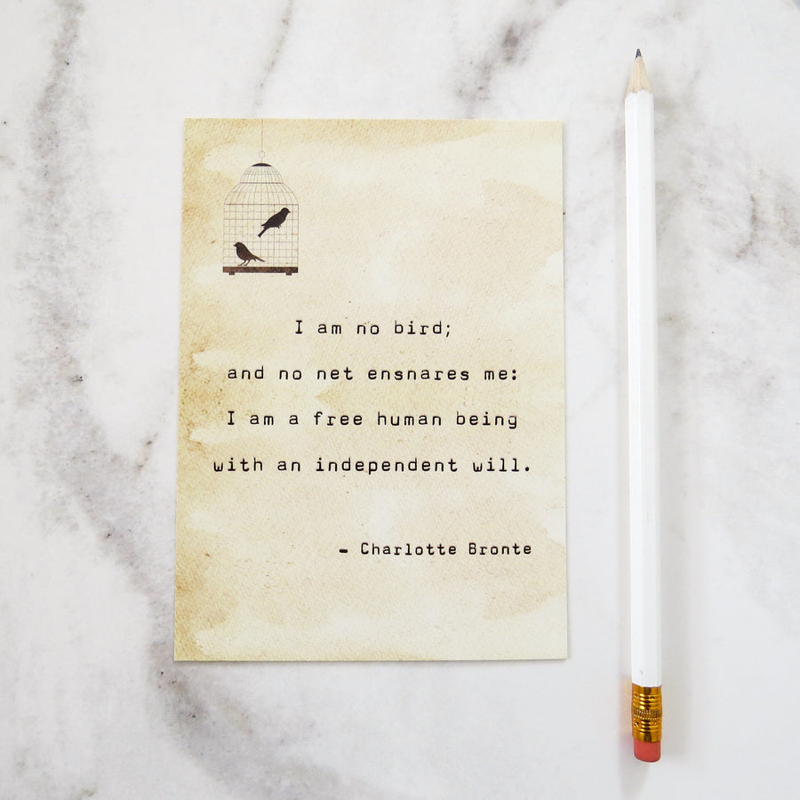 Jane Eyre Quote Postcard - Literary Emporium
