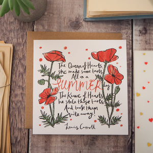 Alice in Wonderland Greetings Card - Literary Emporium