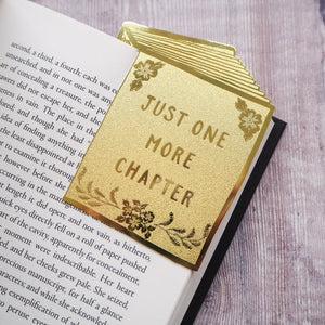 'Just One More Chapter' Brass Bookmark