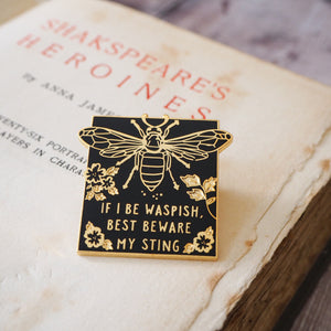 Katherina The Taming of the Shrew Enamel Pin - Shakespeare's Heroines Collection - Literary Emporium