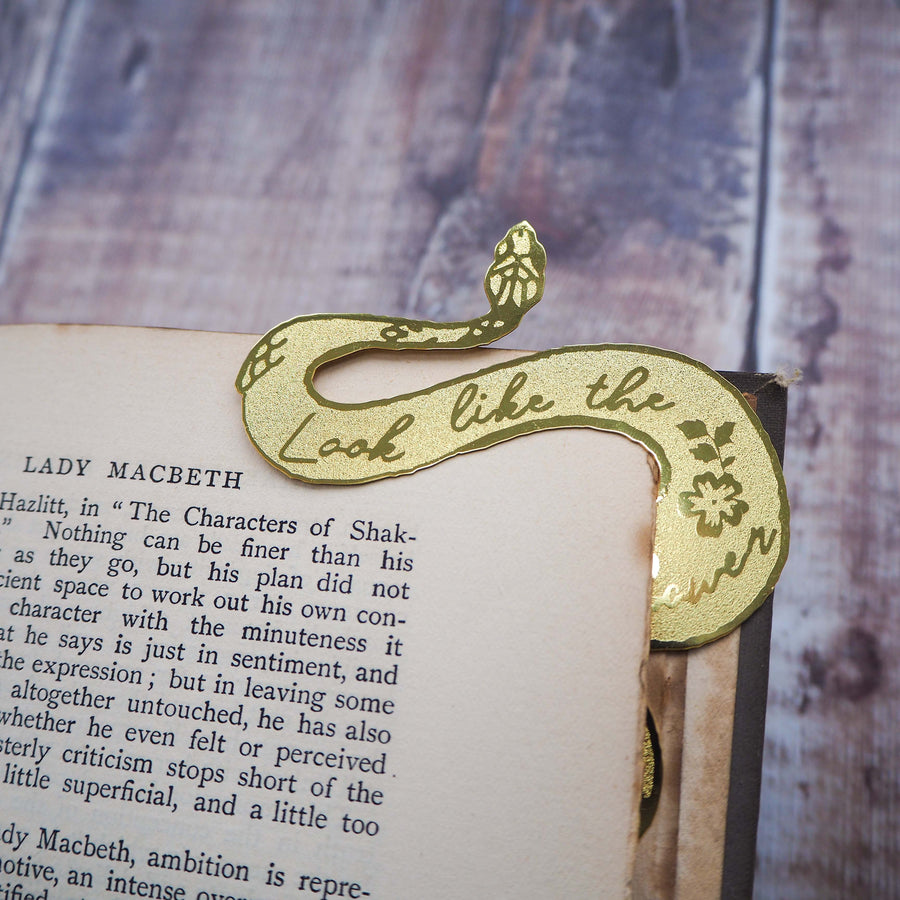 Lady Macbeth Brass Bookmark - Literary Emporium