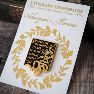 Lady Macbeth Enamel Pin - Shakespeare's Heroines Collection - Literary Emporium