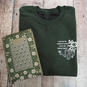 Lady Macbeth Green Sweatshirt - Shakespeare's Heroines Collection - Literary Emporium