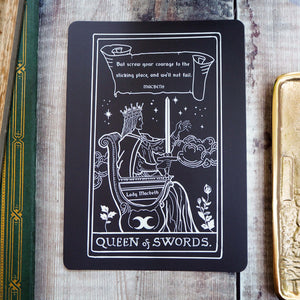 Lady Macbeth Tarot Card Mini Print - Queen of Swords - Shakespeare Tarot Collection
