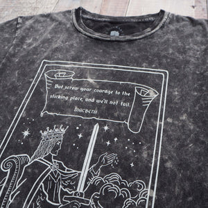 Lady Macbeth Tarot T-shirt - Queen of Swords - Shakespeare Tarot Collection