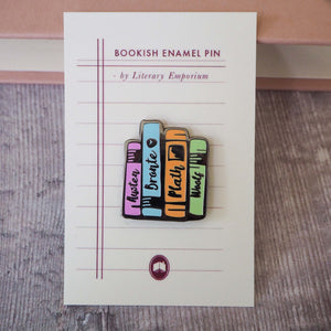 Literature Ladies Enamel Pin - Literary Emporium