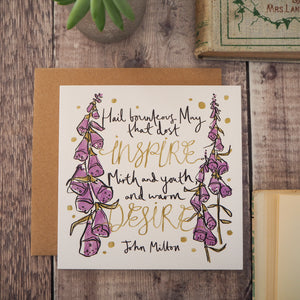 Literary Quote May Birthday Card - Literary Emporium