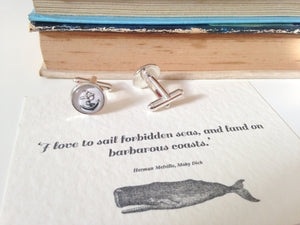 Moby Dick Anchor Cufflinks - Literary Emporium