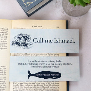 Moby Dick Bookmark - First and Last Line Collection - Literary Emporium