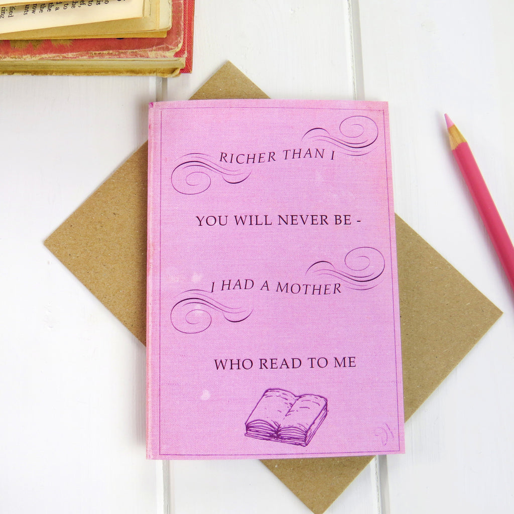 Mother's Day Book Card - Literary Emporium