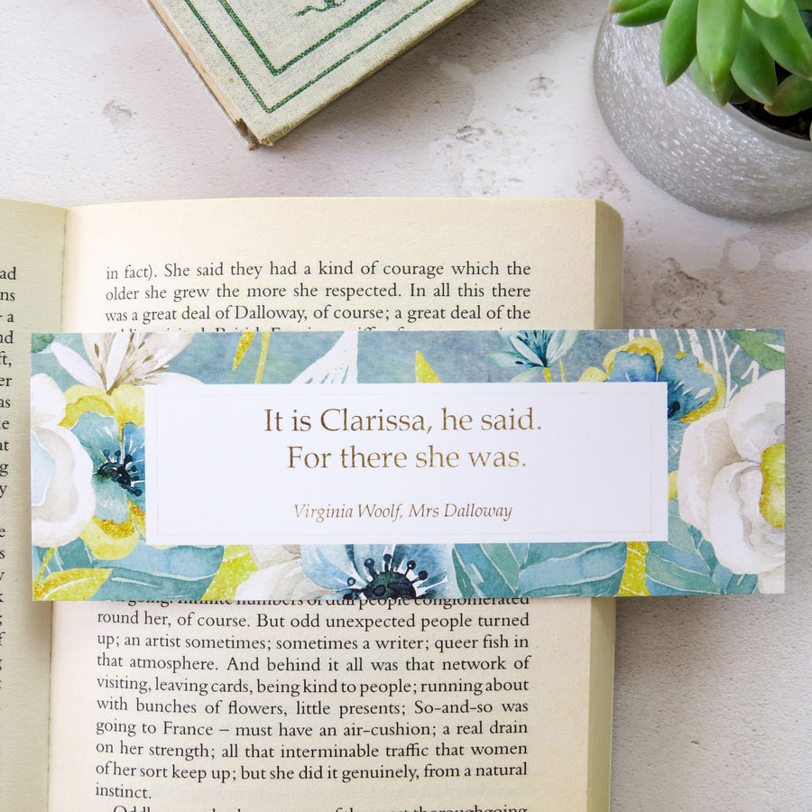 Mrs Dalloway Bookmark - First and Last Line Collection - Literary Emporium