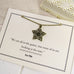 Oscar Wilde Star And Flower Necklace - Literary Emporium