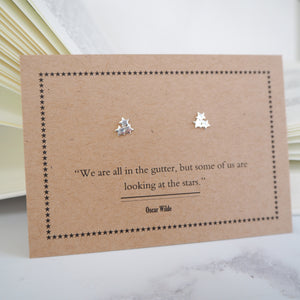 Oscar Wilde Star Earrings - Literary Emporium