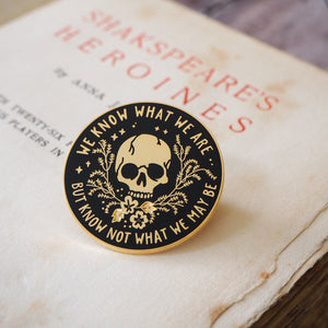 Ophelia Enamel Pin - Shakespeare's Heroines Collection - Literary Emporium