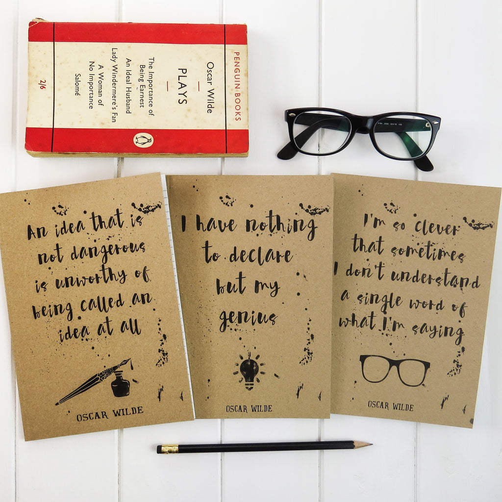 Oscar Wilde Quote A5 Notebook - Literary Emporium