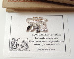 The Owl And The Pussycat Brooch - Literary Emporium