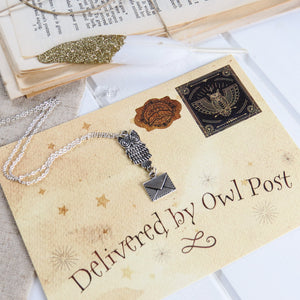Owl Post Necklace - The Magic Collection - Literary Emporium