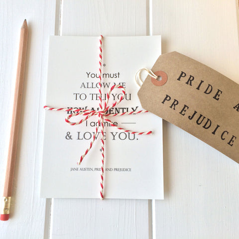 Pride And Prejudice Postcard Set - Literary Emporium