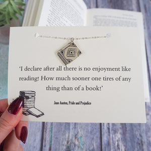 Pride And Prejudice Book Lover Necklace - Literary Emporium