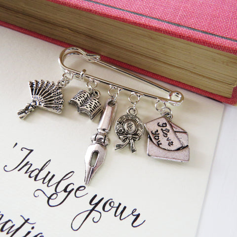 Pride and Prejudice Brooch - Literary Emporium