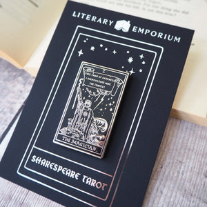 Prospero Tarot Enamel Pin - The Magician - Shakespeare Tarot Collection - Literary Emporium