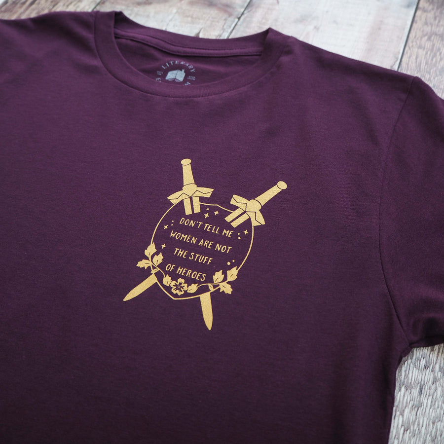 Qiu Jin T-Shirt - PURPLE - Literary Emporium