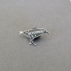 The Raven - Edgar Allan Poe Enamel Pin - Gothic Literature Collection - Literary Emporium