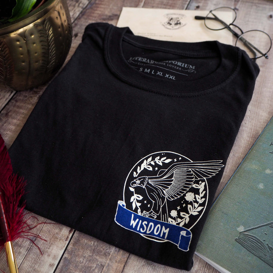 Wise Eagle T-Shirt - Magical House Collection - Literary Emporium
