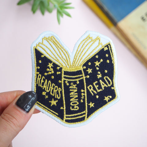 Readers Gonna Read Embroidered Iron on Patch - Literary Emporium