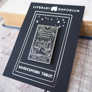 Romeo and Juliet Tarot Enamel Pin - The Lovers - Shakespeare Tarot Collection - Literary Emporium