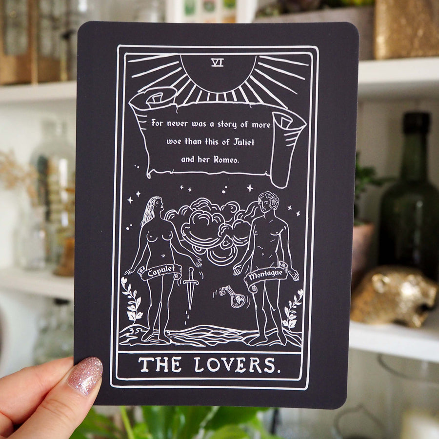Romeo and Juliet Tarot Card Mini Print - The Lovers - Shakespeare Tarot Collection - Literary Emporium