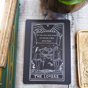 Romeo and Juliet Tarot Card Mini Print - The Lovers - Shakespeare Tarot Collection