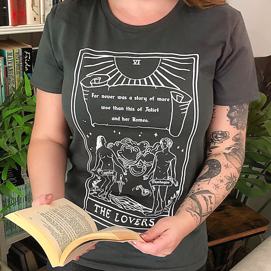 Romeo and Juliet T-shirt - The Lovers - Shakespeare Tarot Collection - Literary Emporium