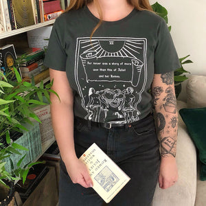 Romeo and Juliet T-shirt - The Lovers - Shakespeare Tarot Collection