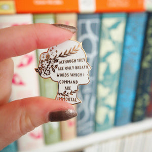 Sappho Enamel Pin - Women Poets Collection - Literary Emporium