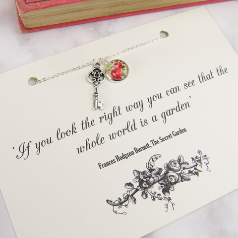 The Secret Garden Key Necklace - Literary Emporium