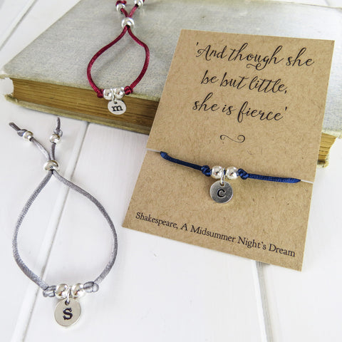 Personalised Shakespeare Friendship Bracelet - Literary Emporium