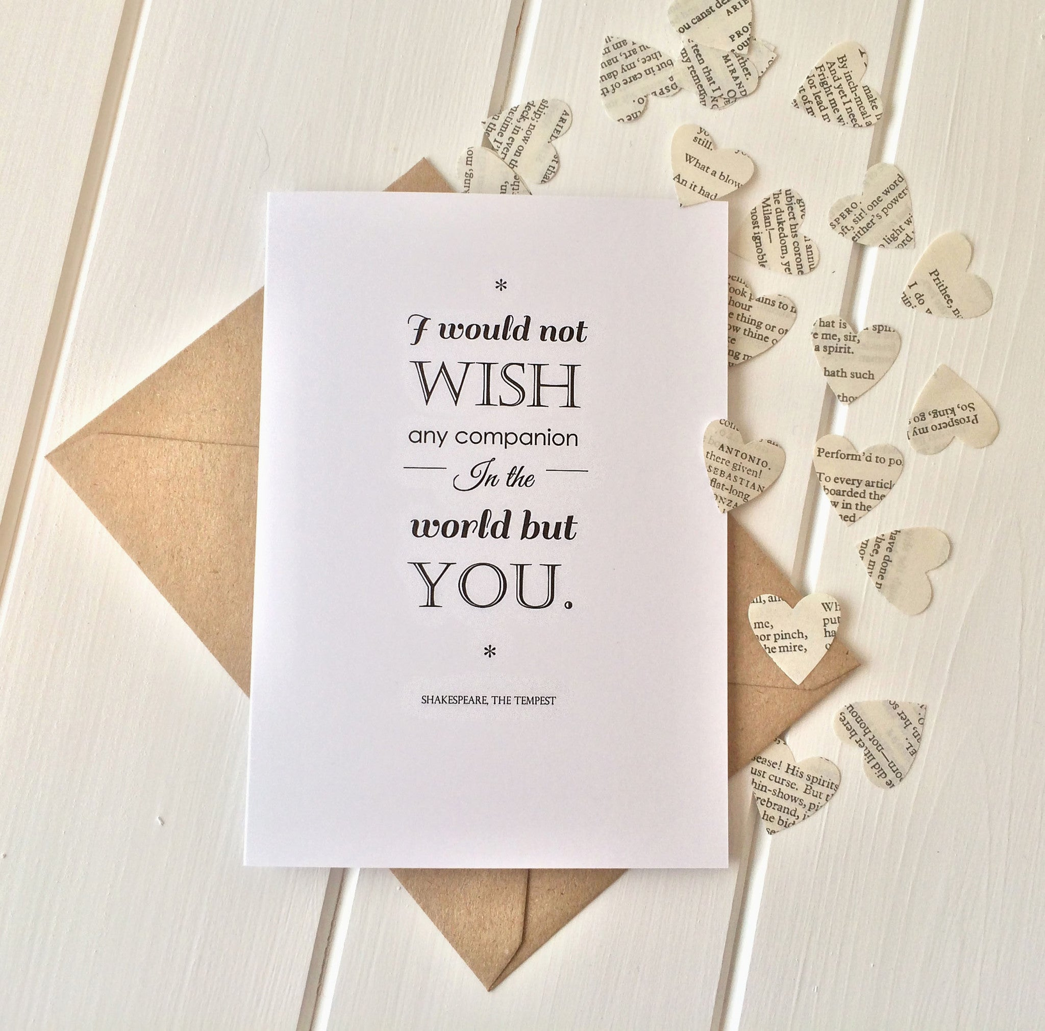 Shakespeare Valentines Card - Shakespeare Greetings Card for Book ...
