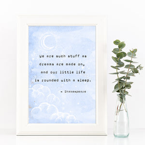 Shakespeare Dreams Typewriter Print - Literary Emporium