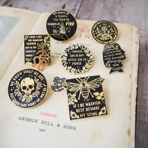 Shakespeare's Heroines Enamel Pin Set