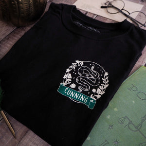 Cunning Snake T-Shirt - Magical House Collection - Literary Emporium