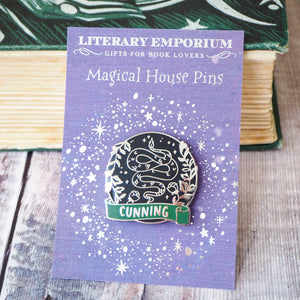 Cunning Snake - Magical House Enamel Pin Collection - Literary Emporium