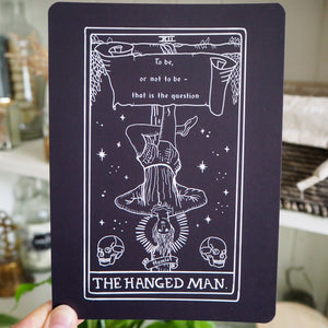 Hamlet Tarot Card Mini Print - The Hanged Man - Shakespeare Tarot Collection