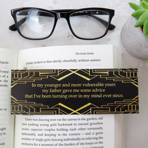 The Great Gatsby Bookmark - First and Last Line Collection - Literary Emporium