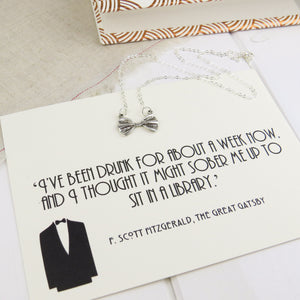 The Great Gatsby Bow Tie Necklace - Literary Emporium