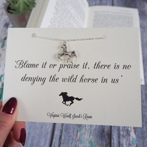 Virginia Woolf Wild Horse Necklace - Literary Emporium